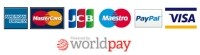 We take these cards and payments via WorldPay.