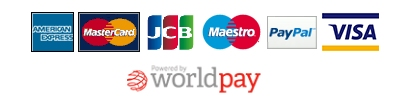 Payments secured by WorldPay and PayPal.