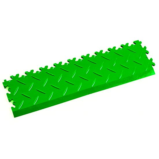 Light Green Diamond Plate - Interlocking Tile Edging